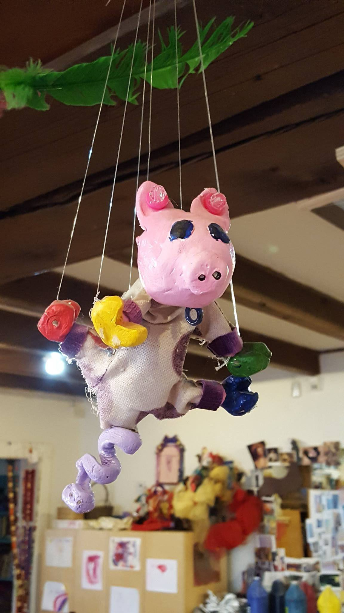 childs puppet of a pig