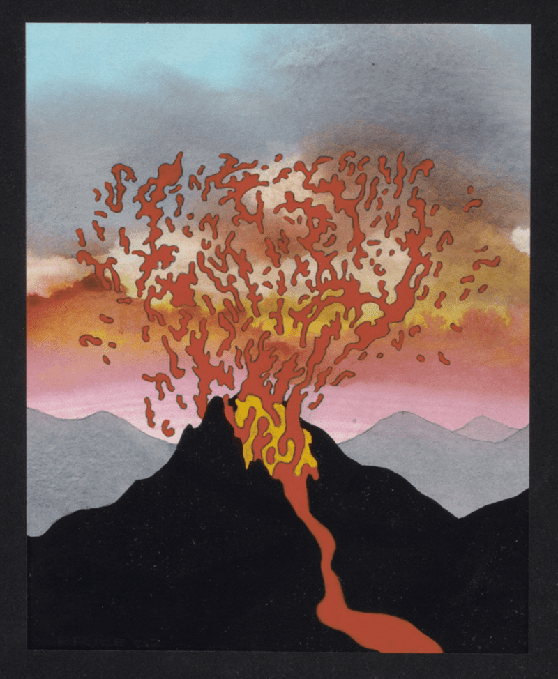 Volcano Drawing by Ken Price