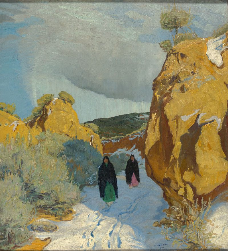 Winter in New Mexico by Walter Ufer