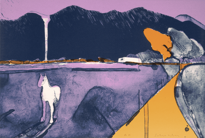Mystery Horse at Taos by Fritz Holder