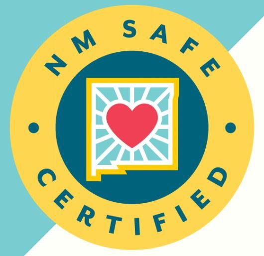 logo for NM Safe Certified Covid Training